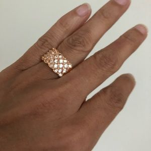 Jewelry - Rose Gold Cubic Zirconia Ring. Size: 6